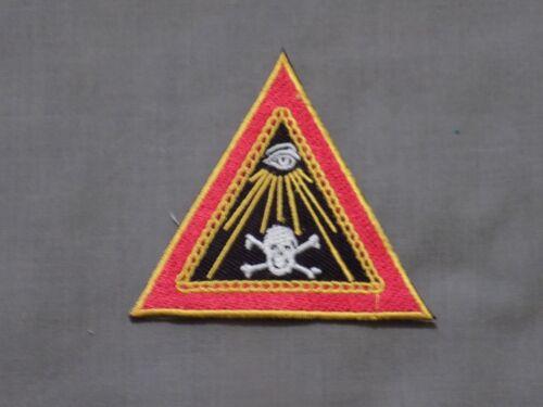 "Masonic 3"" Patch Iron Sew On Widows Sons Skull Crossbones All Seeing Eye  NEW!"