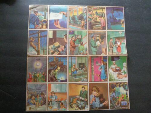 1942 Coca-Cola Electricity Series Premium Sheet of 20 Cards
