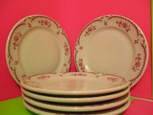 Shenango Restaurant Ware Chardon Rose Luncheon Plates