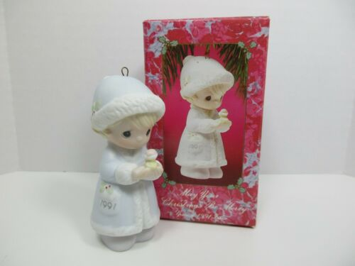 """PRECIOUS MOMENTS Ornament """"May Your Christmas Be Merry """"  # 524174"""
