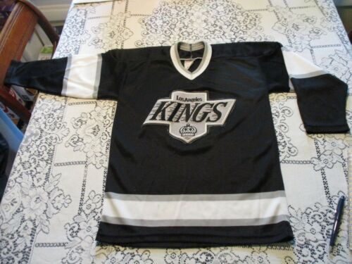 LOS ANGELES KINGS FULLY STITCHED VINTAGE CCM BRAND HOCKEY JERSEY-YOUTH LARGE