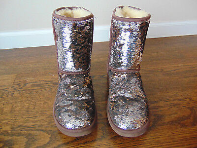 UGG AUSTRALIA WOMEN'S Sequins Boots S/N1003387 SZ.7](Sequin Womens Boots)