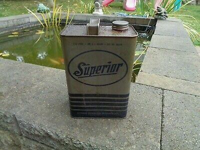 VINTAGE ANTIQUE SUPERIOR MOTOR OIL CAN SUPREME PETROLEUM PHILADEPLHIA PA TIN
