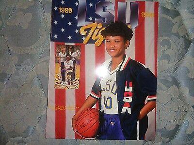 1989-90 LSU LADY TIGERS BASKETBALL MEDIA GUIDE Indiana Fever POKEY CHATMAN AD