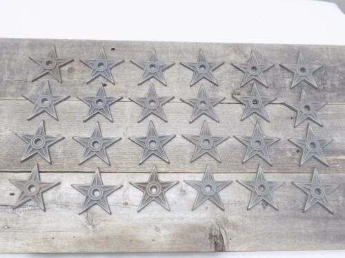 "24 Cast Iron Stars Washer Texas Lone Star Ranch 3 7/8"" Large Primitive Raw Craft"