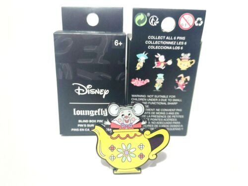 Dormouse Alice in Wonderland Character Blind Box Mystery Pin Loungefly Disney