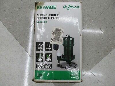 Zoeller Bn2701 1hp Cast Iron Submersible Grinder Pump New