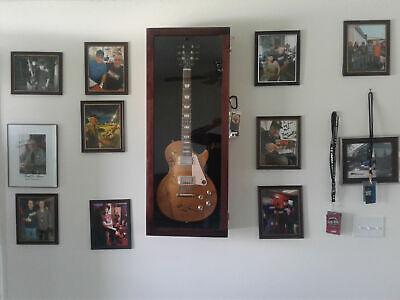 Guitar Display Case Acoustic/Electric Guitar Display Case CHERRY w/ FELT Backer