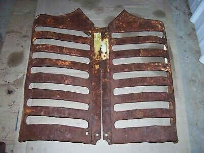Vintage Oliver 55 Tractor - Grille Screen Set - Rusty