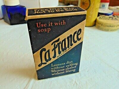 Vintage Sample Box, LaFrance Washing Powder, never opened, helps whiten clothes
