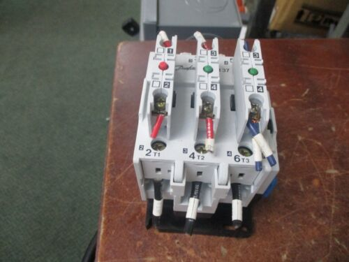 Danfoss Contactor CI37 110V Coil 80A 600V w/(3) Aux Contacts Used
