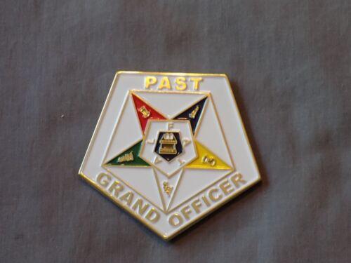 "Masonic 3"" Car Emblem Order Eastern Star OES Past Grand Officer Metal NEW!"