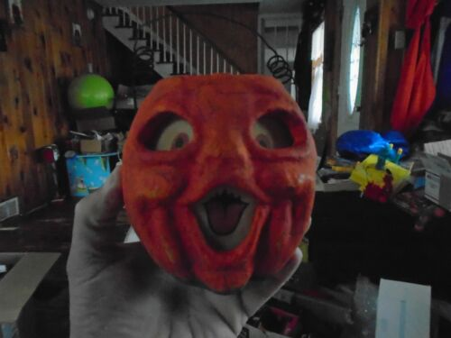 Paper Mache  Vintage Jack-o-Lantern Pumpkin RARE!!