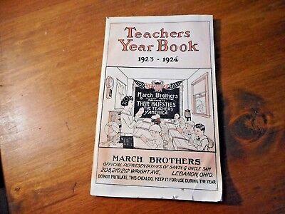 Halloween Original Script (1923-1924 TEACHERS YEAR BOOK BOOKLET Christmas Boxes Halloween Supplies &)