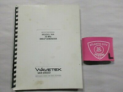 Wavetek Model 164 30 Mhz Sweep Generator Instruction Manual