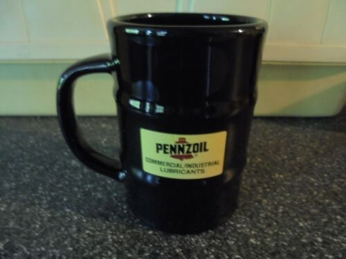 "Pennzoil 55 Gallon Drum Shaped Coffee Mug ""Made In USA"""