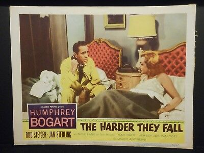 Humphrey Bogart Jan Sterling The Harder They Fall 1956 Lobby Card VG Boxing