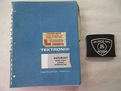 TEKTRONIX 147/R147 NTSC TEST SIGNAL GENERATOR INSTRUCTION MANUAL 070-1169-00 Ntsc-test-signal-generator