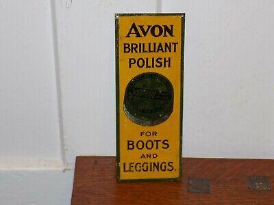 Vintage Avon Polish Tin Door Push Sign