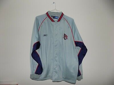 VTG New Jersey Nets NBA Reebok Authentic Warm Up Shooting Jacket Mens Large L