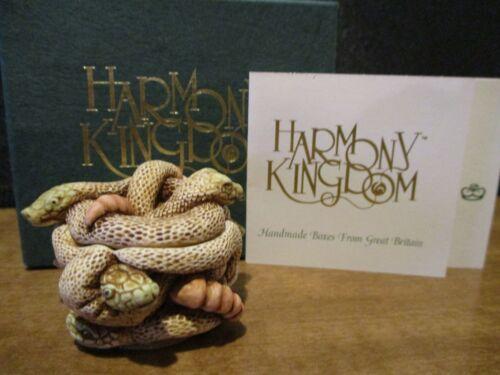 Harmony Kingdom All Tied Up Rattle Snakes UK Made Very Early Box Figurine RARE