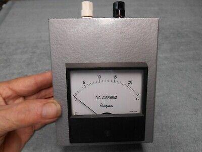 Ham Radio Simpson 0-25 Dc Ampers Meter
