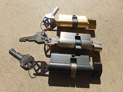 3 Storm Door Locks Cylinders All With Key.  Locksmith