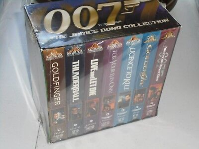James Bond 007 Collection VHS Boxed Set Movies NEW Collectors Item Set of 7