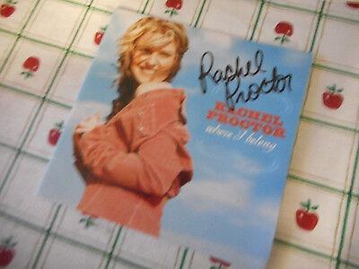 Autographed Rachel Proctor Where I Belong CD Insert
