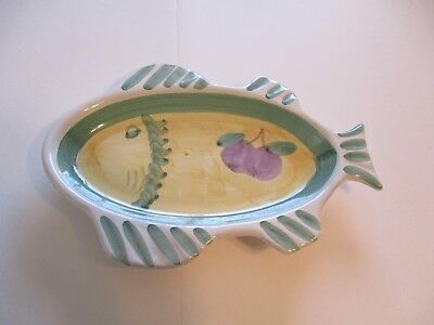"""ITALIAN MADE IN ITALY TRAY PLATE """"DIP BOWL"""" DEEP DISH 9.5 x 7 INCHES"""