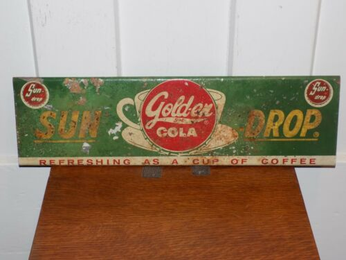 Vintage Sun Drop Golden Cola Metal Door Push