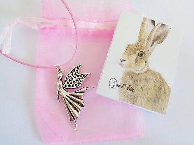 'FAIRY' PENDANT / NECKLACE - GIFT PACKAGED BY WILDLIFE ARTIST WITH CARD (Artist Fairy Necklace)