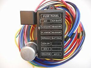 street rod wiring harness 12 circuit universal wire harness 12 fuse 12v street hot rat muscle rod wiring