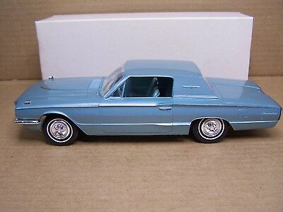 NOS Tahoe Turquoise 1966 Ford Thunderbird Hardtop Dealer Promo Model Car in Box