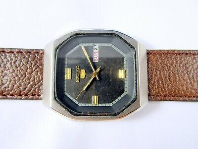 VINTAGE SEIKO 5 AUTOMATIC ORIGINAL DIAL DAY-DATE JAPAN WRIST WATCH # Q16