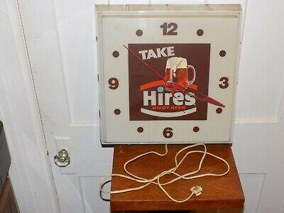 Vintage Take Hires Root Beer Lighted Clock