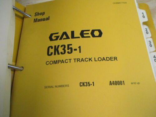 Komatsu CK35-1 Compact Track Loader Shop Service Manual