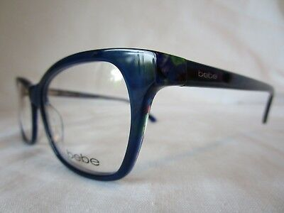 BEBE EYE GLASSES FRAME BB5118 ROSY 414 MIDNIGHT FLORAL 55-17-140 NEW & AUTHENTIC