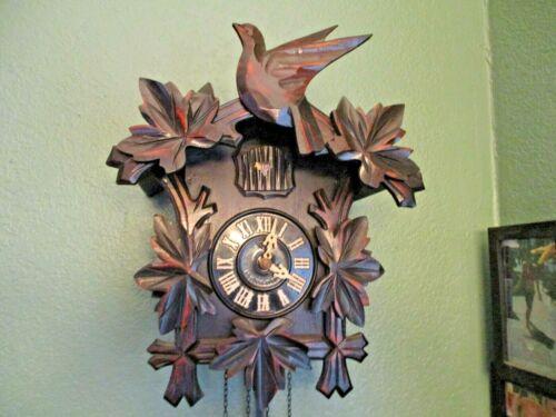 Vintage! Rare Mi-Ken Wood Cuckoo Clock With Original Box! Works! Made in Japan!