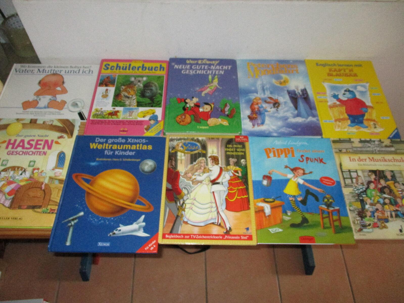 Kinderbücher 10-er Set Sammlung Kinderbuch Pippi Langstrumpf Englisch lernen