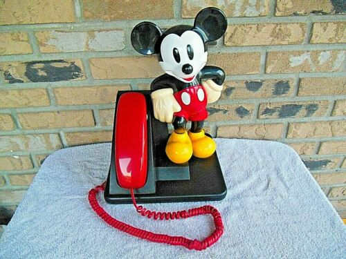 Vintage AT&T Disney Mickey Mouse Corded Land Line Touch Tone Telephone-1995