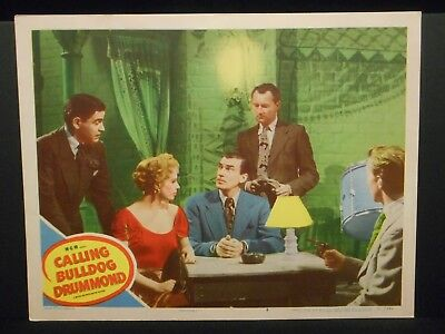 Calling Bulldog Drummond 1951 orig Lobby Card Very Fine Walter Pidgeon
