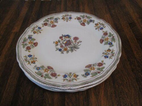 Gien Floral Salad Plates Mint Condition Rare Pattern 9 inch diameter Set of 3