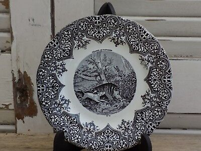 SUPERBE ASSIETTE CHASSE A COURRE CHASSE AU SANGLIER GIEN