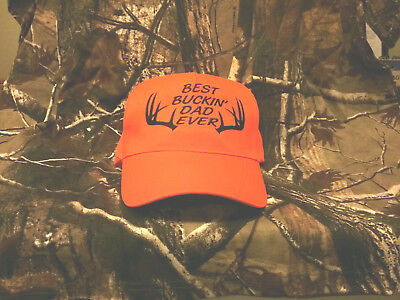 BEST BUCKIN' DAD EVER - EMBROIDERED ADJUSTABLE HAT, HUNTER, BOW, DEER, DOE, BUCK