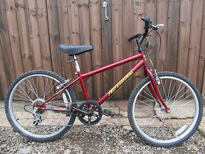 Professional Chain Reaction Boys Red Mountain Bike Bicycle 5 Gears Shimano 24 in