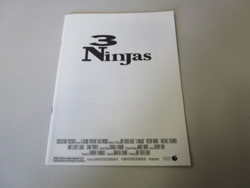 MOVIE PRESS KIT 3 NINJAS VICTOR WONG   MOVIE PHOTO WITH INFORMATION BOOKLET