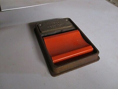 Vapor Recovery Id Marker Cast Iron Brass With Orange Reflective Marker