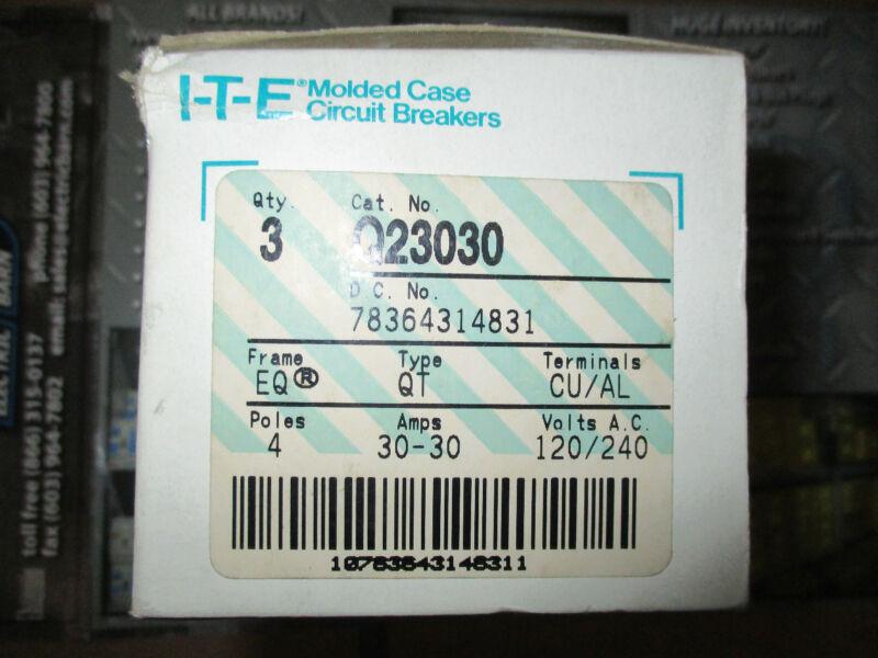 ITE / Siemens Q23030, (2) 2 POLE 30 AMP Tandem Circuit Breaker- NEW