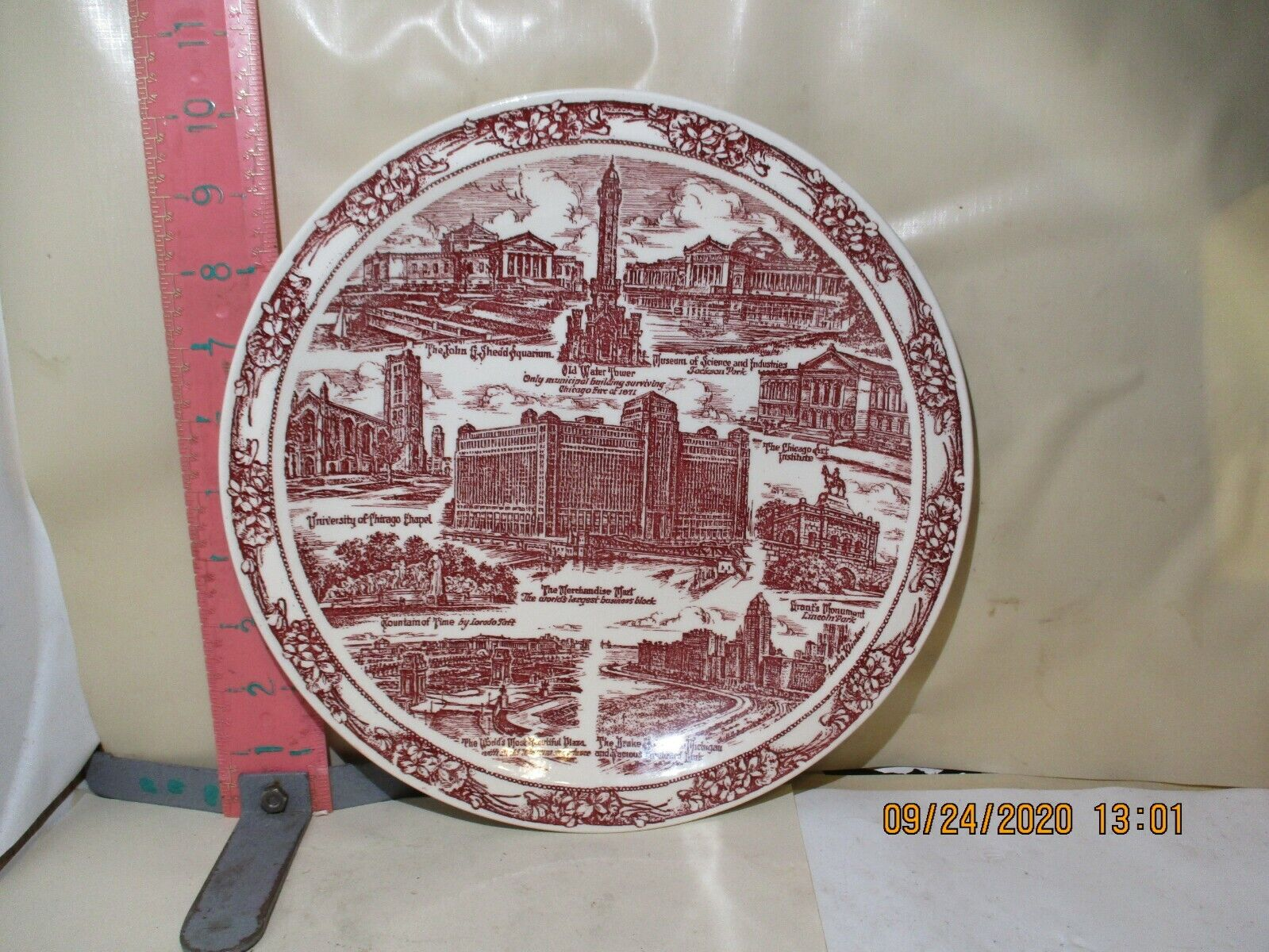 VERNON KILNS CHICAGO , ILLINOIS PLATE - 1930'S SIGHTS OF THE WINDY CITY ..